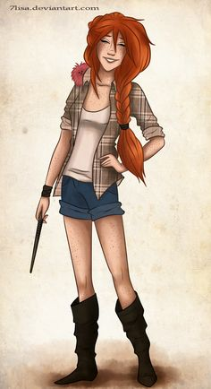 Ginny by 7Lisa.deviantart.com on @deviantART My friends keep saying if I was any student in the series, I'm most like Ginny. No complaints. :3