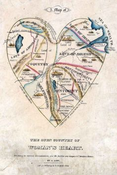An 1830s Depiction Of What's Inside A Woman's Heart