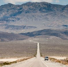 Peter's Sprinter camper near Town Pass - Death Valley by the back door. Still lots of wide open spaces in America...