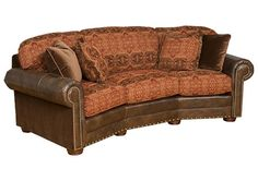 WOODLEYS Ricardo LeatherFabric Conversation Sofa