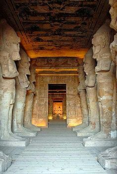 Temple of Ramses. Abu Simbel. Truly awe inspiring... The size of it in person is nearly overwhelming.
