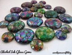 Sarah Jane's Craft Blog: Alcohol Ink Glass Gems