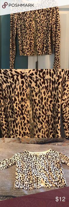Leopard print cardigan size medium Excellent condition leopard print cardigan   Size medium. Sweaters Cardigans