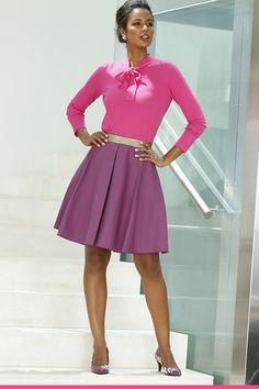 Vaaleanpunainen rusettipaita ja lila puolihame <3 Waist Skirt, High Waisted Skirt, Vermont, Amy, Women's Fashion, Skirts, Fashion Women, Skirt