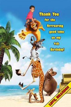 1000 Images About Madagascar Birthday Party Ideas On