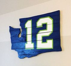 Seattle Seahawks 12s pallet wall art by LJsPallets on Etsy