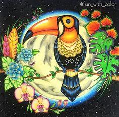U A U  que pintura #linda, encantada com cada cor... tudo lindo. @fun_with_color beautiful  _______________________________________________ ↪ Use #lostoceancolors, e compartilhe seus desenhos ou via Direct!↩  Siga os IGs: @lostoceancolors