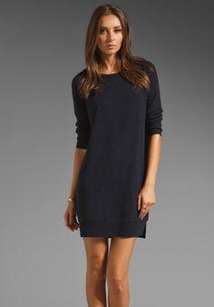 Juicy Couture Merino Bow Sweater Dress Dark Regal $125 via Revolve Clothing