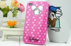 Mickey Mouse Iphone 4 4g 4s Hard Case High Quality Case Cover Pink 3d + Hawaii Flower Lady White Hard Iphone 4 4s Case for...
