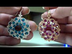 "Tutorial modulo bracciale ""Griss"" - YouTube Jewelry Making Tutorials, Beading Tutorials, Beaded Jewelry Patterns, Beading Patterns, Diy Jewelry Inspiration, Earring Tutorial, Beaded Brooch, Bead Jewellery, Seed Bead Earrings"