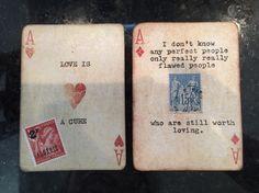 Original altered playing cards - Lara Irwin