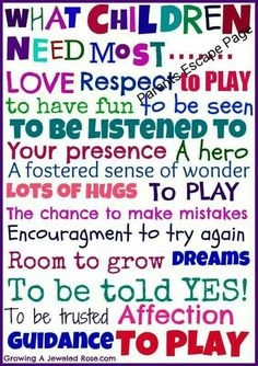 What children need most