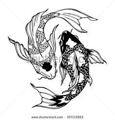 stock-vector-illustration-of-koi-carp-coloring-page-yin-yang-357172883.jpg (450×470)