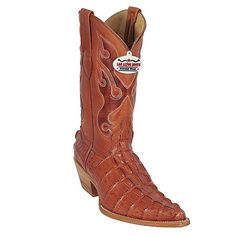 Los Altos Boots - Cognac Alligator Tail Print. I wouldn't cross the woman wearing these boots