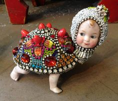 Turtle Boy with Bathing Cap by Betsy Youngquist by betsyyoungquist