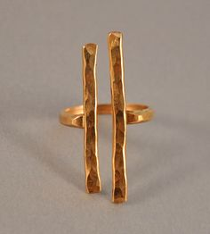 Hammered Gold Couplet Ring / by Ilsa Loves Rick