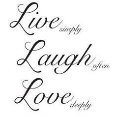 Ebern Designs A beautiful motto to live by, the Live Laugh Love wall quote reminds you of what really matters in life. Be inspired everyday with these memorable wall words that work both as a wall accent as well as a positive outlet in times of hardship. Wall Quotes, Life Quotes, Qoutes, Monday Quotes, Live Laugh Love Quotes, Mottos To Live By, Grandma Quotes, Husband Quotes, Laughing Quotes
