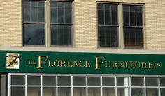 Outside shots of businesses in Livingston, Montana. Florence Furniture.