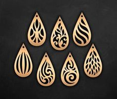 This ornamental pendant templates was created using my original hand drawn designs. You can resize template size as you wish in your cutting software without loosing detail. ----YOU WILL RECEIVE---- 1 ZIP file- 10 file formats ♥ EPS, SVG, CDR, DXF, DWG, AI (vector formats) ♥