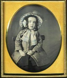 Annie C Damon Adorable Girl Dag Hand Tinted Daguerreotype | eBay