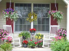Decks And Porches, Front Porches, Outdoor Fun, Outdoor Spaces, Outdoor Decor, Victorian Porch, Cottage Porch, Summer Porch, Side Porch