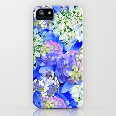 Billowing Blush in Blue iPhone & iPod Case by Vikki Salmela - $35.00 #new #blue #floral #flowers #hydrangea #romantic #iPhone #phone #Samsung #technology #case for #her #office #gift #school #accessory by #vikkisalmela on #Society6.