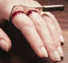 Meat Cleaver Ring – $225. Just in time for Halloween