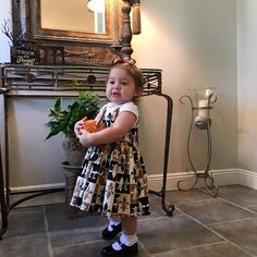 Melinda's little lady is absolutely adorable in the Rockabilly Baby Annie Dress in Grand Fleur! Who Dat!?! #trashydiva #trashydivarockabillybaby