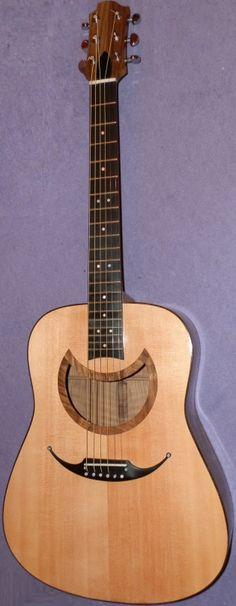 frettedchordophones:  Mark Finney Donovans Moon acoustic guitar  =Lardys Chordophone of the day - a year ago --- https://www.pinterest.com/lardyfatboy/