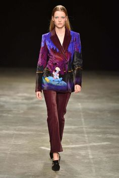 Designer Mary Katrantzou took inspiration from Walt Disney's classic film, Fantasia for her latest collection. See all the looks now!