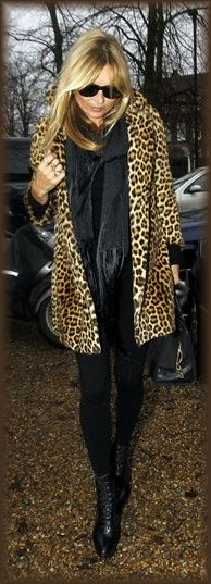 Kate Moss says it's cool to wear leopard jackets... so... it's cool to wear leopard jackets!