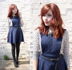 Anchor and paisley dress. Navy.