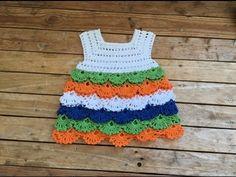 Robe multicolore crochet toutes tailles / Vestido tejido a crochet todas las tallas