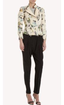 3.1 Phillip Lim Floral Jacket with zipper details on the cuffs and jacket front