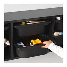 TROFAST Wall storage, black - 99x21x30 cm - IKEA