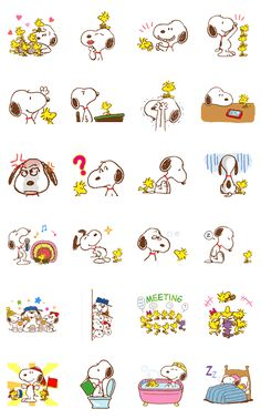 Best friends Snoopy and Woodstock now have their own set of stickers! Be part of their happy days, along with the whole Snoopy family and friends! These cute and whimsical stickers are the perfect conversation piece!