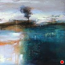 """Remaining Steadfast-abstract landscape by Joan Fullerton Acrylic ~ 24"""" x 24"""""""