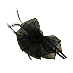 Black Sinamay Looped Flower and Feathers Hair Alice Band Headband Fascinator ** Want additional info? Click on the image.