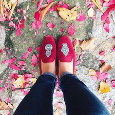 All things come from the Earth  Ming Garnet - Velvet Slippers #stubbsandwootton #fw15 #mingvase #velvetslippers