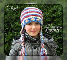 "E-Book / PDF-Häkelanleitung Mütze ""Rapunzel"""