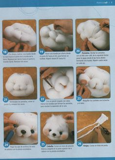 Revista de muñecos soft Doll Crafts, Diy Doll, Sewing Crafts, Sewing Projects, Sock Toys, Teddy Toys, Ours Boyds, Plush Pattern, Felting Tutorials