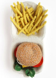 Crocheted Food Art-Combing the comforts of food and fluffy crochet, UK-based artist Kate Jenkins brings us Crocheted Food Art.