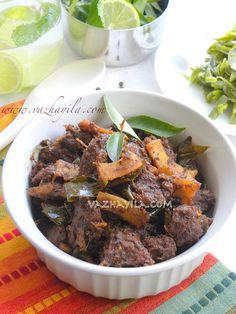 Kerala Style Beef Ularthiyathu - beef dry fry recipe