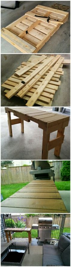 Side table made out of a pallet