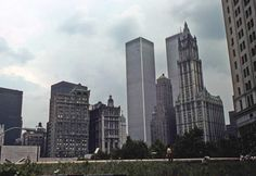 Remember the original World Trade Center? I miss it greatly but its original architect would have HATED the new 1 WTC. He thought all glass buildings were eerie...