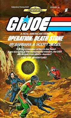 """Operation: Death Stone, a G.I.Joe """"Find Your Fate"""" (Choose Your Own Adventure knock-off) book"""