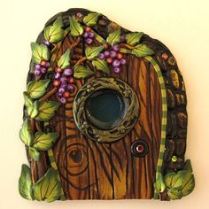Fabulous door made of polymer clay.  Ideas for inspiration ... photo # 3