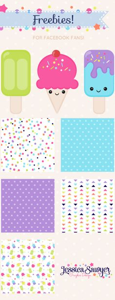 Free Kawaii Clipart and Digital Papers