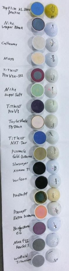 "What's inside your golf ball ? Re-pinned by <a href=""http://www.apebrushes.com"" rel=""nofollow"" target=""_blank"">www.apebrushes.com</a>. GREENS BRUSHES THAT REALLY WORK!"