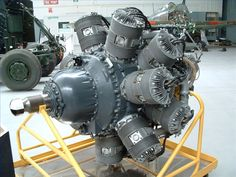 Bristol Hercules engine as fitted to the Lancaster Mk2. The engine had some advantages over the more widely used Merlin, being air cooled there was no cooling system to be damaged by flack and the cover on the radial engine meant it was harder for German fighters to see the exhaust flashes (a cover had to be fitted to the Merlins)